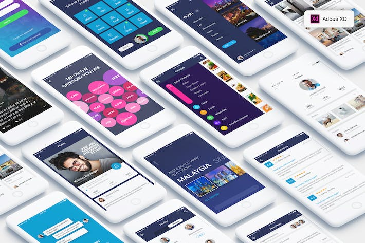 Thumbnail for Mountify Mobile UI Kit for ADOBE XD