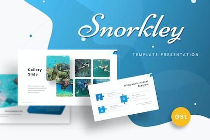 Snorkley - Diving  Google Slides Template