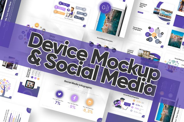 Cover Image For Mockup & Social Media Slides Powerpoint Template
