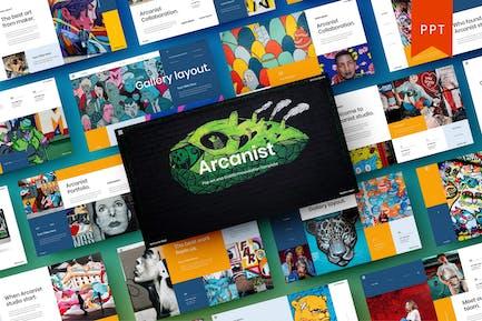 Arcanist - Pop art and Graffiti PowerPoint