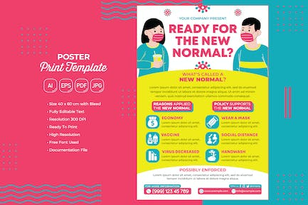 Covid-19 #12 Poster Print Template