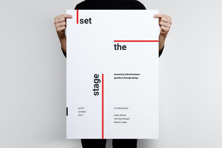 Thumbnail for Swiss Poster Template 01