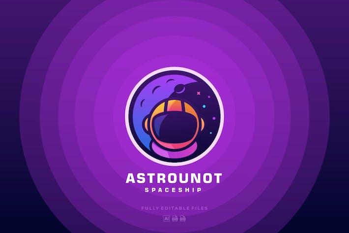 Thumbnail for Logo de ligne de couleur de l'astronaute