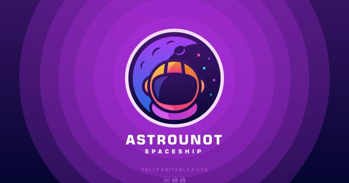 Download Astronaut Color Line Logo by ivan_artnivora