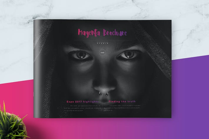 Thumbnail for Magenta Modern Brochure