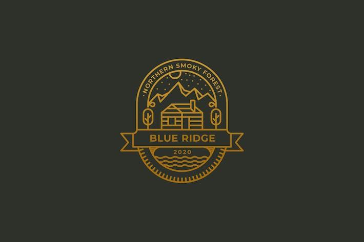 Thumbnail for Cabin, blue ridge, camping vintage logo template
