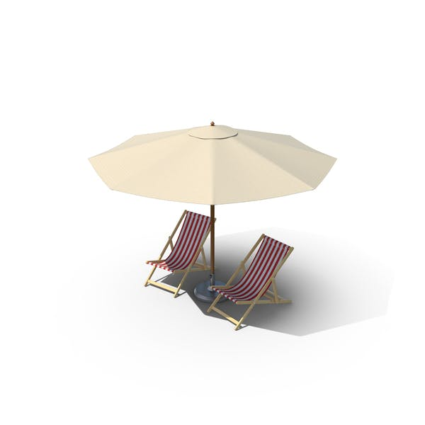 Thumbnail for Beach Chairs with Umbrella