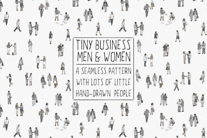 Minúsculas personas de negocios