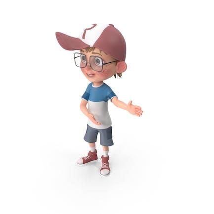 Dibujos animados Boy mostrando