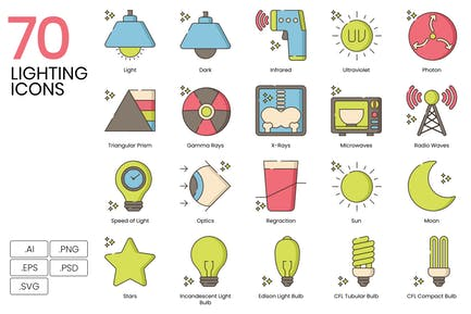 70 Lighting Icons