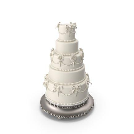 Tarta de boda tradicional blanca