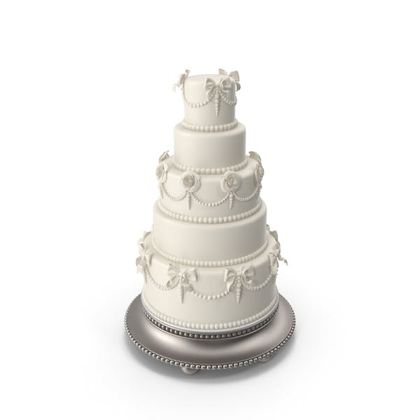 White Traditional Wedding Cake