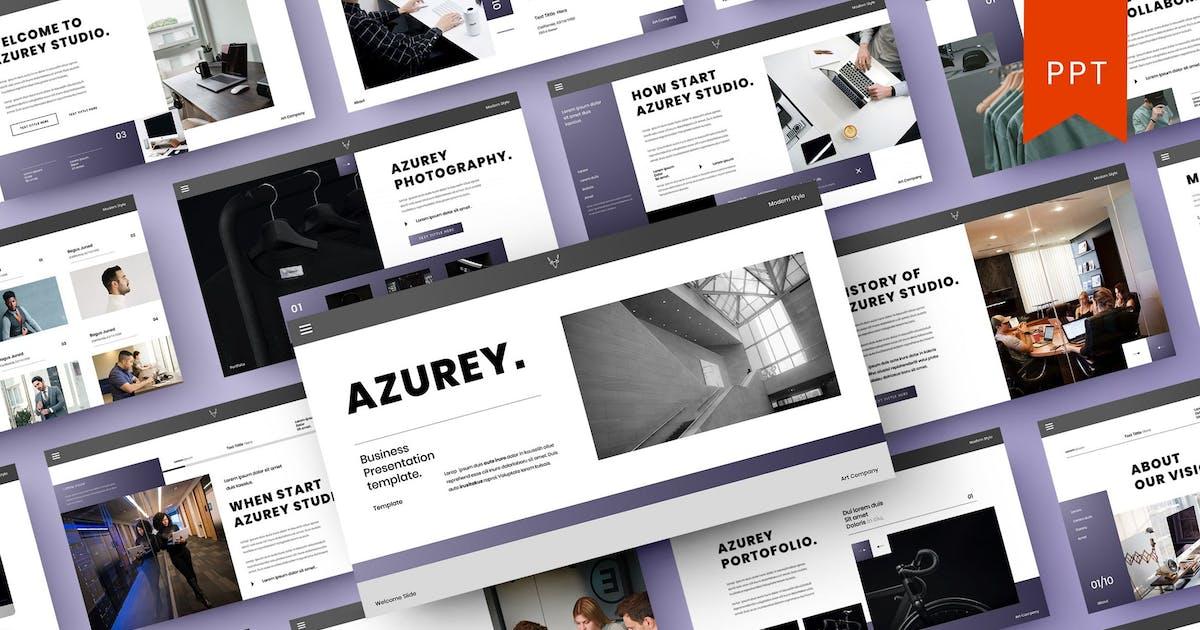 Download Azurey – Business PowerPoint Template by DensCreativeStudio