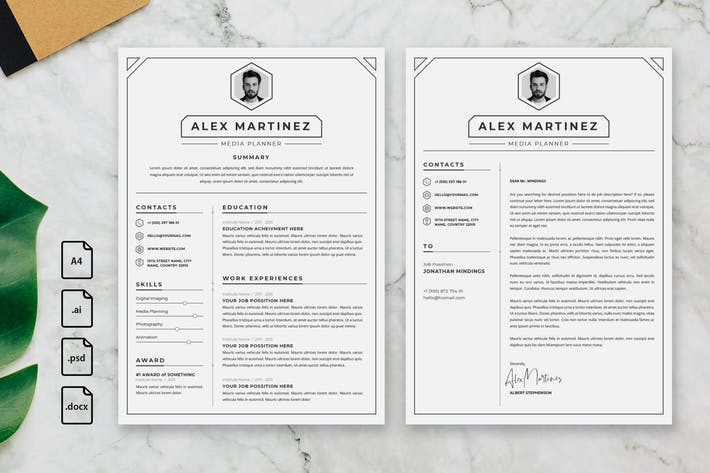 Cover Image For Professional CV And Resume Template Martinez