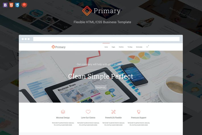 Thumbnail for Primary - Flexible Business HTML 5/CSS 3 Template