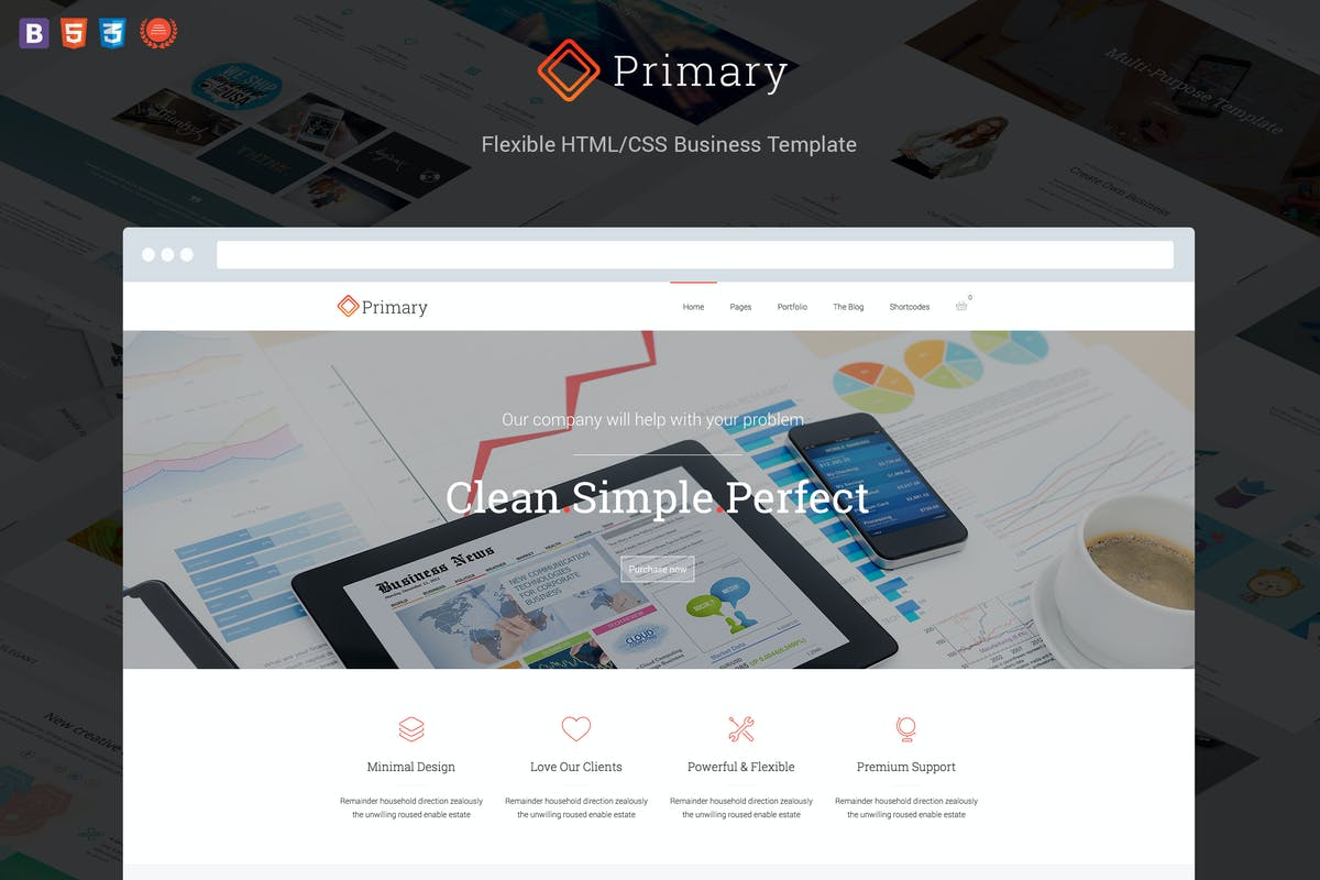 Primary - Flexible Business HTML 5/CSS 3 Template by DankovThemes on ...