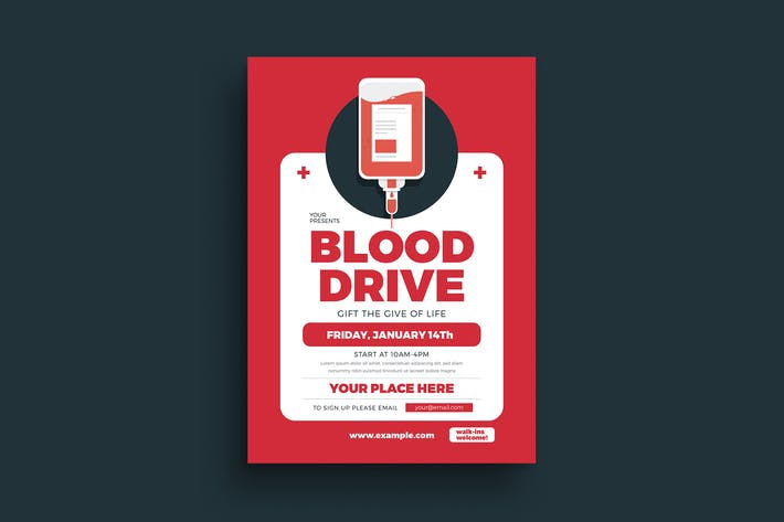 Cover Image For Blood Drive Event Flyer