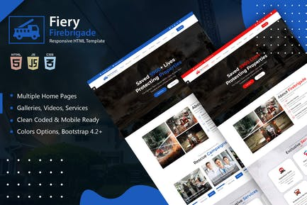 Fiery - Fire Brigade Responsive HTML Template