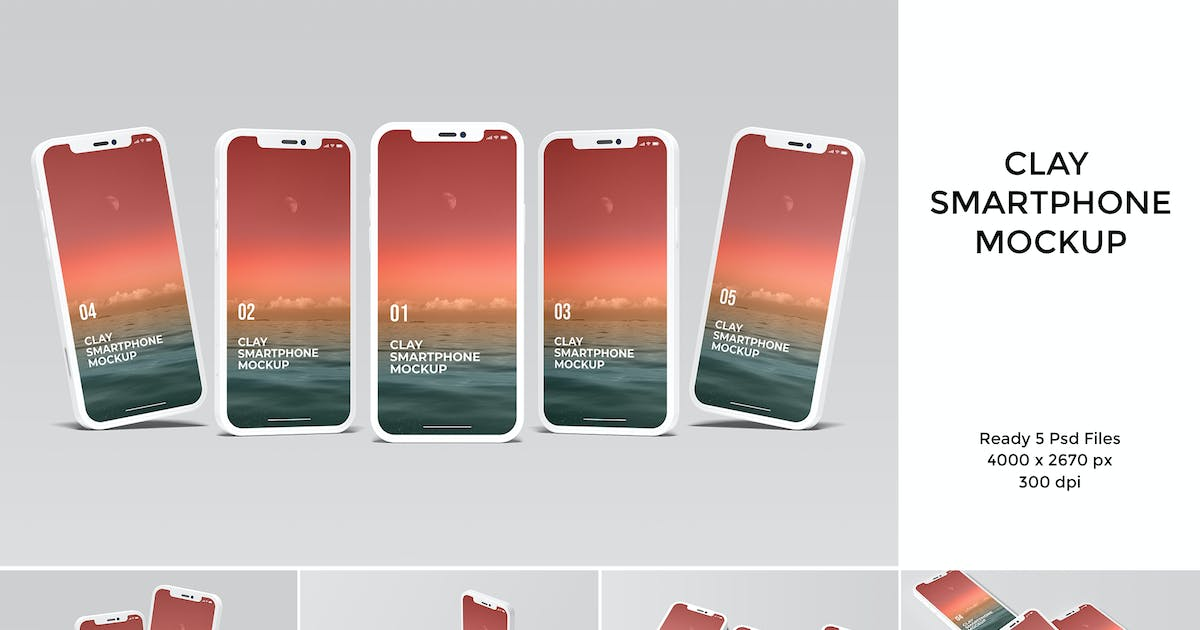 Download Clay smartphone mockup by yellowgold