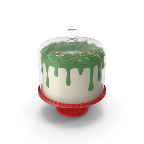 Thumbnail for Merry Christmas Cake With Glass Dome