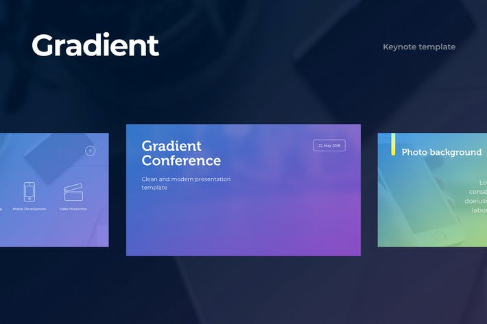 Thumbnail for Gradient Keynote Template