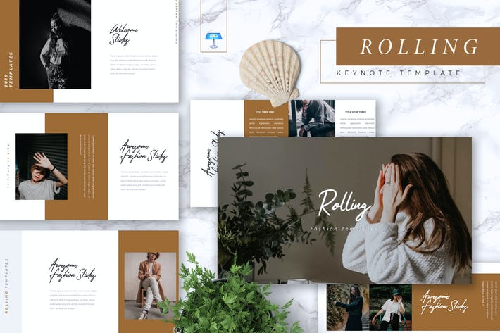 Thumbnail for ROLLING - Fashion Keynote Template