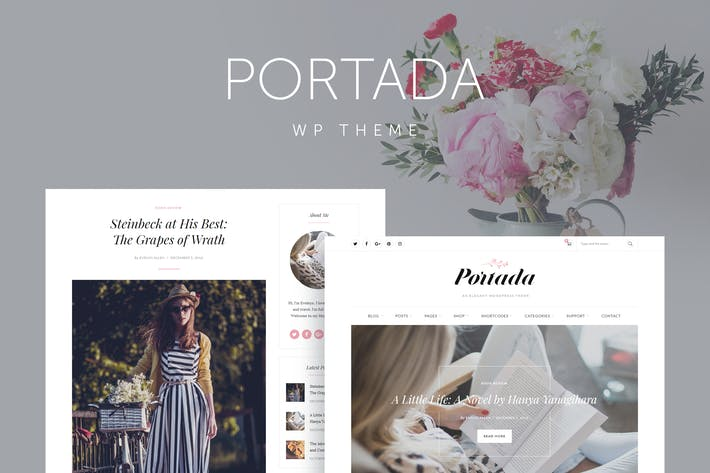 Portada - Elegant Blog Blogging WordPress Theme