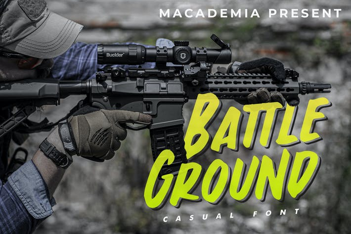Thumbnail for Battleground - Casual Font