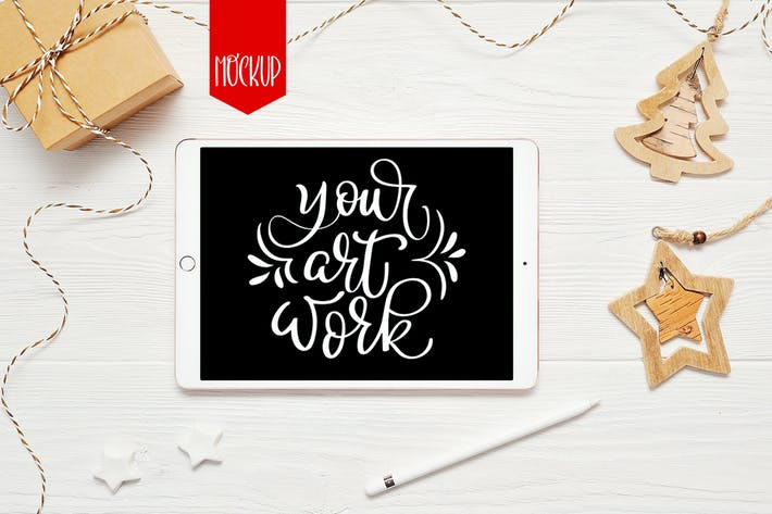 Cover Image For Christmas ipad mock up