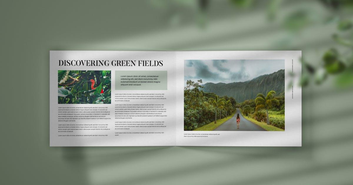 Download Horizontal Bifold Brochure Mockup by deeplabstudio