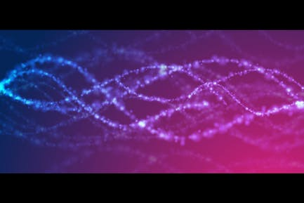Blue purple concept shiny DNA abstract background