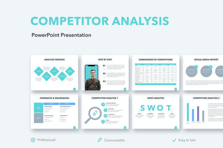 Thumbnail for Competitor Analysis PowerPoint Template