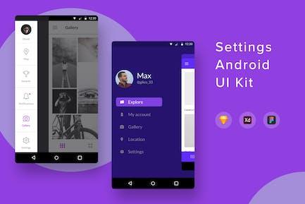 Settings Android UI Kit