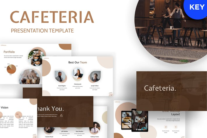 Thumbnail for Cafetaria - Restaurant Keynote Template