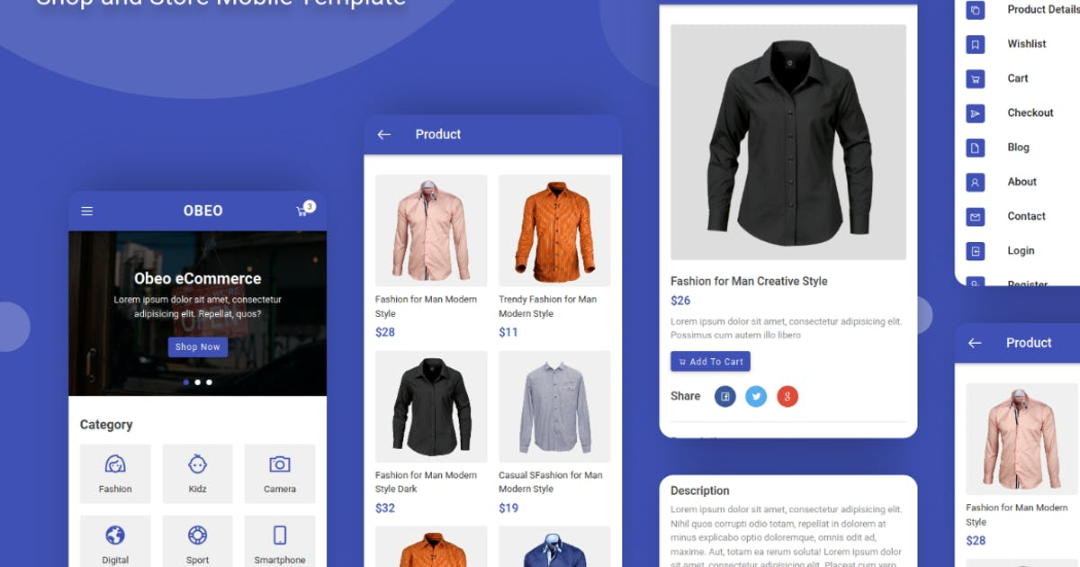 Download Obeo - Shop and Store Mobile Template by aStylers