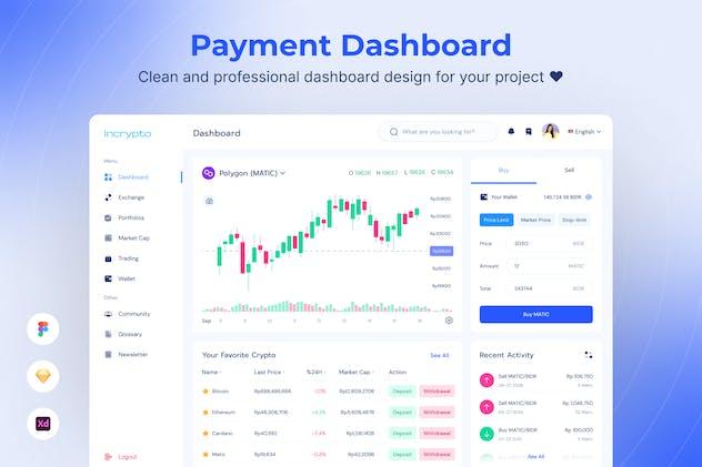 Cryptocurrency Dashboard UI Kits Template