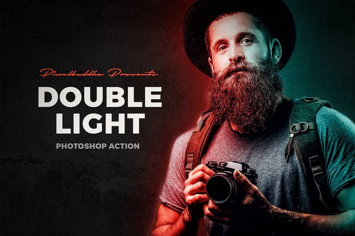 Thumbnail for Double Light Photoshop Action