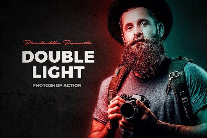 Thumbnail for Действие Photoshop с двойным освещением