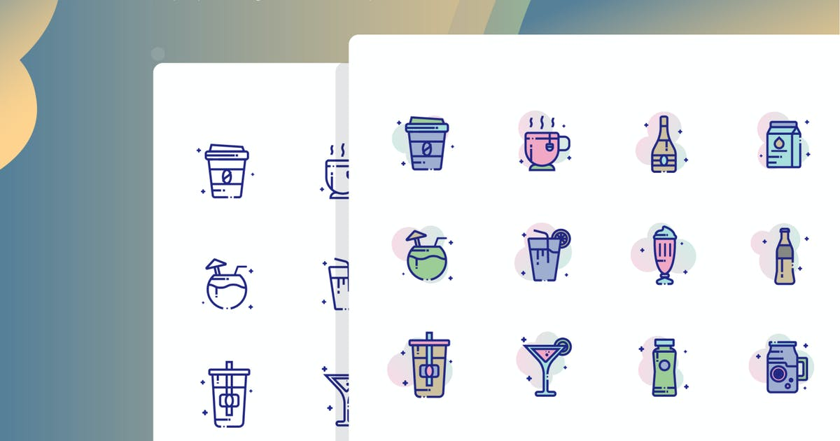 Download Beverages Icon Pack by inspirasign