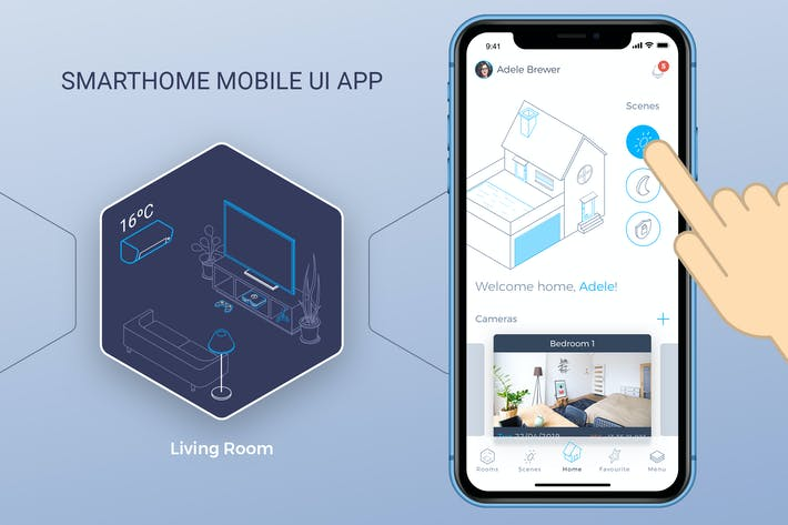 Thumbnail for Smart Home Mobile Ui 6 - TH