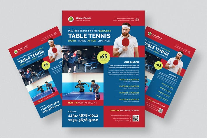 Thumbnail for Table Tennis Competition Flyer Design