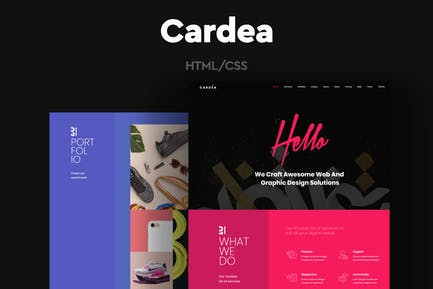 Cardea - Colorful Portfolio One Page Template