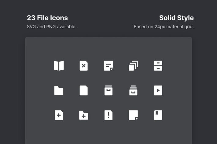 Thumbnail for File Icons - Solid Style