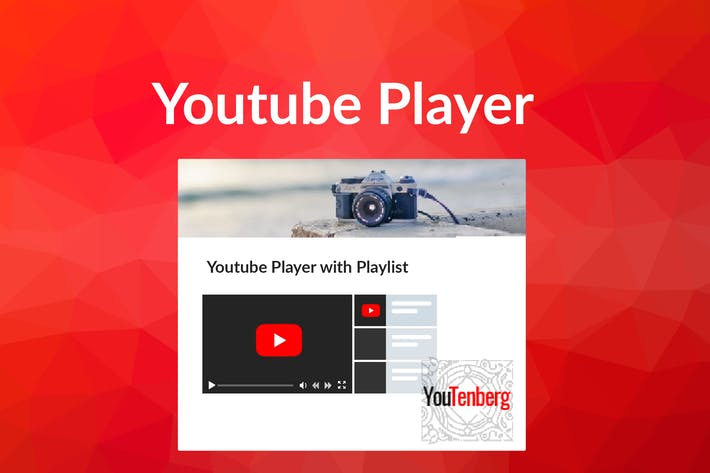 Thumbnail for Youtenberg - Gutenberg YouTube Player with Playlis
