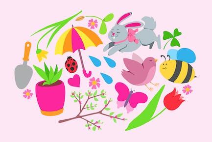 Frühlingssymbole