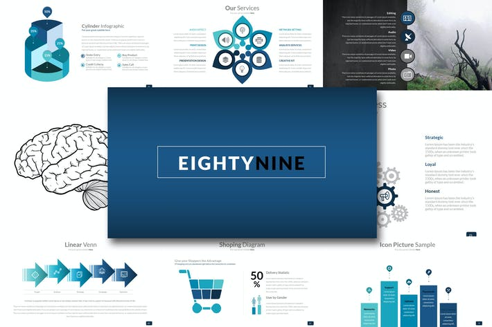 Thumbnail for Eighty 9 - Powerpoint Template