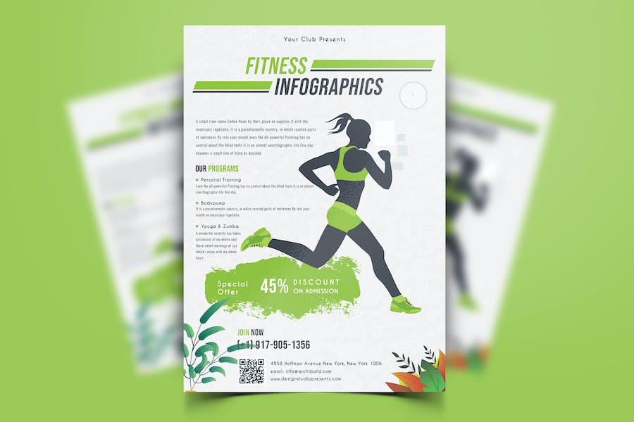 Modern fitness flyer design