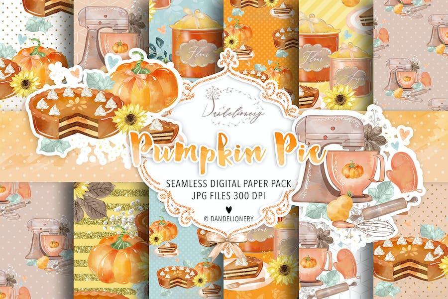 Pumpkin Pie digital paper pack