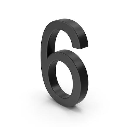 Number 6 Black