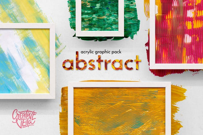 Abstraktes Acryl Graphic Pack